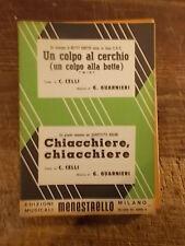 """SPARTITO CURTIS """"UN COLPO AL CERCHIO"""" + QUARTETTO RADAR """"CHIACCHERE, CHIACCHERE"""""""