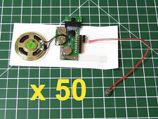 50pcs - DIY KIT 200sec for GREETING CARD + 1 BUTTON MP3 device voice music sound