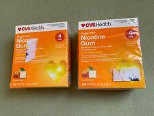 CVS Nicotine Gum 4 mg 2 Boxes Sugar Free Coated Fruit 200 Pieces Expires 6/2022