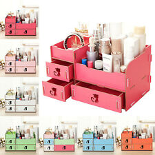 Wooden Cat Hollow Storage Box Cosmetic Make up Desk Organizer/BOX With Drawer