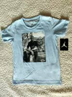 RARE NIKE AIR JORDAN KIDS BLUE MJ GRAPHIC T SHIRT 854280-M60 SIZE 6 BOYS