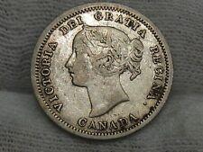 1858 Silver 5¢ Cent CANADA. #28