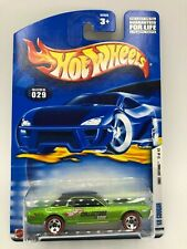 Hot Wheels Collectors.com 68 Mercury Cougar Green Blk  MIBP Red Lines Protecto