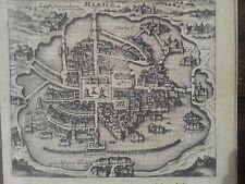 de Bry Theodore México 1655. Map ciudad de mexico.