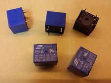 Lot de 5 relais moules neuf 1RT bob. 12Vdc  10A/250V