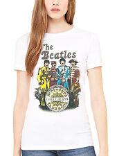 Official The Beatles Sgt Pepper Club Band Women's T-Shirt Lennon McCartney Ringo