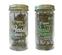 McCabe USDA ORGANIC Basil (2-Pack) (Whole Basil Leaves and Crushed Basil Leaves)