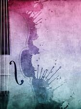 Stampa POSTER MUSICA PITTURA stringa SECTION Violoncello Violino PAINT SPLASH lfmp0566