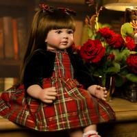 60 cm Full Body Silicone Reborn Baby Doll Girl Lifelike Newborn Kids Gifts