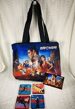 FX Sterling Archer Cartoon Show Promotional Tote Bag & 4 Piece Coaster Set