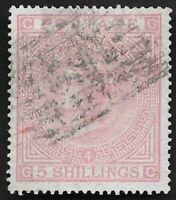 1882 QV SG134 5s Rose GC Very Fine Used CV £4,200