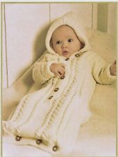 Baby knitting pattern. Sleeping bag, papoose, cocoon,.