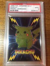 Pokemon 1999 Japanese Meiji Pikachu Promo Embossed PSA 9 EXTREMELY RARE!