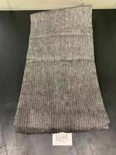 Restoration Hardware Woven Pinstripe Linen Full Queen Duvet Cover Grey / Black