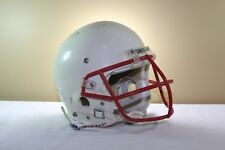 Schutt Game Used Worn Youth Advantage Football Helmet White Nopo Mask Medium 102