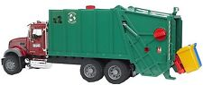 Bruder Toys Mack Granite Garbage Truck Ruby Red / Green 02812 Kids Play NEW