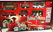 New holiday express christmas tree train set lumières/motion transport station cadeau