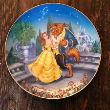 """Bradford Exchange Disney Plate Beauty & the Beast Hidden Treasures Coa 8"""""""