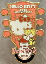"Hard Rock Cafe TOKYO 2014 HELLO KITTY 40th Anniv. ERROR PIN w/out ""TOKYO"" #81035"
