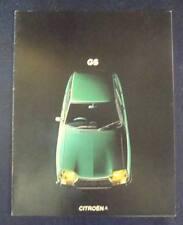 CITROEN GS Car Sales Brochure Sep 1973 Includes Saloon & Estate #ANG.D