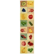 Chelsea Safavieh Fruit Panels Ivory Wool Runner 2' 6 x 8'
