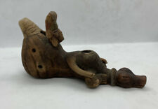 Pre Columbian Mexican Mayan Aztec Clay Whistle Man Clay Pottery Folk Art