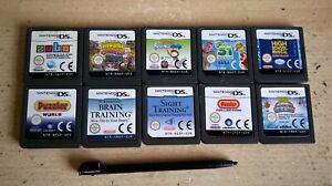 BUNDLE OF 10 NINTENDO DS GAMES / LITE DSi 3DS COMPATIBLE - GIRLS BOYS  LOT 5 VGC