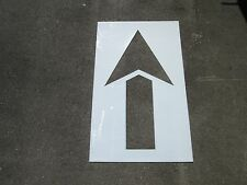 """60"""" Straight Parking Lot Arrow Stencil 1/8"""" ReUsable Easy To Clean LDPE Plastic"""