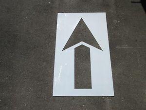 "48"" Straight Parking Lot Arrow Stencil, 1/16"" Re-Usable Flexible LDPE Plastic"