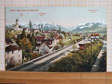 Farbkarte - Männedorf mit Bahnhof - gel 1911 m