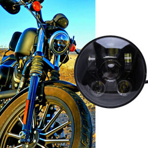 """For Harley Davidson Iron 883 1200 XL883N 5-3/4"""" 5.75 LED Headlight Projector DRL"""