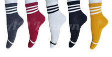 AM Landen Women 5 pairs Set 5 color Double Stripe Ankle Socks