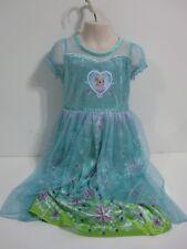 Disney Frozen Size 8 ELSA Princess Nightgown Blue Green Pink