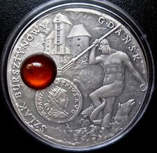 NIUE IS.= 2008 = 1 DOLLAR - AMBER ROUTE = DANZIG - GDANSK - SILVER - ANTIOUE