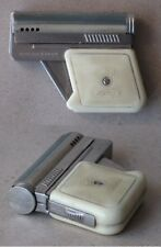 OLD AUSTRIAN PETROL CIGARETTE LIGHTER IMCO 6900 GUNLITE PISTOL WHITE FUNCTIONAL