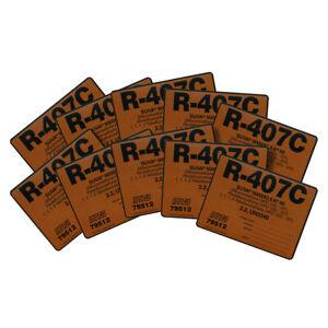 R-407C / R407C SUVA 9000 KLEA 66 / 79512 UN3340 Pack of (10) Refrigerant Labels
