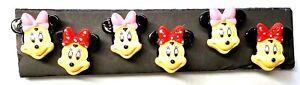 MINNIE MOUSE Disney Push Pins - Set of 6 Handmade Decorative Thumb Tacks