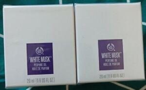 The Body Shop - Huile de parfum WHITE MUSK 20ml - Lot de 2 neufs sous blister