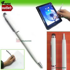 2in1 WHITE Touch Screen Stylus Writing Ink Pen for iPhone iPad Note II S3 Kindle