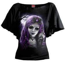 SPIRAL DIRECT GOTH DOLL BOAT NECK SLEEVE/Skull/Gothic/Rock/Sugar Skull/S TO 4XL