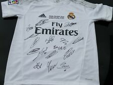 REAL MADRID PERSONALLY HAND SIGNED CHAMPIONS LEAGUE WINNERS JERSEY 2016 + PROOF