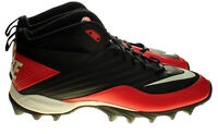 Nike Speed Shark 2011 Mens Sz 12.5 Red/Black/White Football Cleats 442252-016