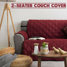Couch Cover 2 Seater Removable Fabric Sofa Slip Throw Protector Furniture MAROON