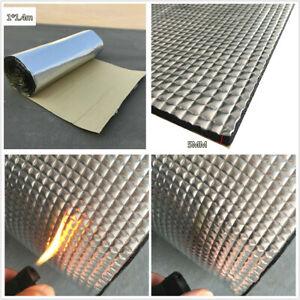 1x1.4m Car Engine Heat Barrier Mat Sound Deadener Noise Insulation Non-flammable