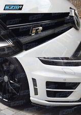 VW Golf R MK7 3D CARBON FIBRE Vinyl Vent Insert + Grill Overlay Decals Stickers