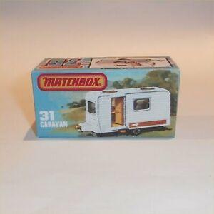 Matchbox Superfast 31 f Caravan Trailer Empty Repro K Style Box