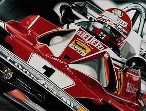 Niki Lauda 90 x 70 cms limited edition F1 art print by Colin Carter
