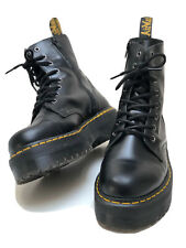 Dr Martens Jadon Leather Platform Boots UK 8 EU 42 US 9 Black Unisex