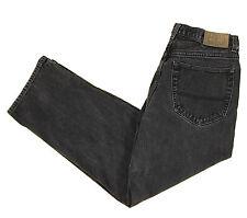 Tommy Hilfiger Designer Jeans 32x29 Relaxed Straight Cotton Denim Black 5 Pocket