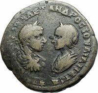 SEVERUS ALEXANDER & JULIA MAESA Marcianopolis Ancient Roman Coin HOMONOIA i79041